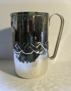 Vintage Sterling 800 Silver Italian Hand Made Pitcher 10 Troy Oz. 3 1/2 Cups