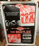 Original Vintage Psychedelic Music Poster Of The Beatles Texts In Spanish Scarce
