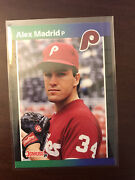 1989 Donruss Alex Madrid Phillies Hot Error Card 604