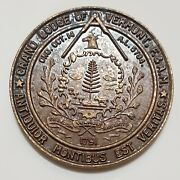 1976 F. And A.m. Grand Lodge Of Vermont Bicentennial Medal