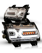 For 18-20 Jeep Wrangler Gladiator Turn Signal Led Sequential Lights Drl X Shape