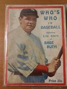 1921 Whoand039s Who In Baseball Babe Ruth Cover Spectacular