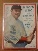 1921 Who's Who In Baseball Babe Ruth Cover Spectacular