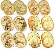 2000 - 2021 P And D Sacagawea Dollars Bu From Us Mint Rolls 44 Coins Total Cp3544