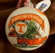 Tennessee Volunteers / T Cabells Too Ball Christmas Ornament Mint With Tag