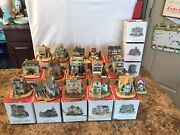 Lot Of 16 Liberty Falls Village/the Americana Collection Pieces