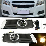 Clear Fog Lights Bumper Driving Lamps W/ Switch+cover For 2013-2015 Chevy Malibu