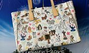 Disney Dooney And Bourke Dogs Paw Prints Tote Purse Stitch Pluto Lady And Tramp New