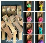 X2 Wooden Cookie Stamp Dessert Mold Bake Making Bekery Homemade Party Wood Fun