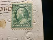 Post Stamps 1 Cent Benjamin Franklin Rare Perforations Collectible Vintage