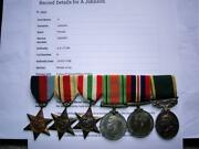 Ww2 British Military Police Medal N Africa And Italy Pte Johnson And Ta Efficiency
