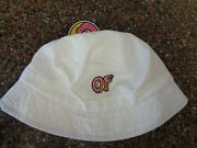 Odd Future Of White Bucket Hat Adult One Size New Authentic Donut Beach Pool
