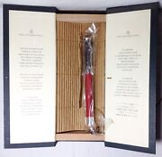 Graf Von Faber-castell Guilloche Coral Red Fountain Pen New In Box Product
