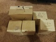Lot 5 Piece Collection Department 56 Snowbabies Miniatures Painted Pewter/boxes
