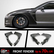 For Nissan Gtr R35 2017 My17 Oe Carbon Fiber Front Fender With Air Vents Refit