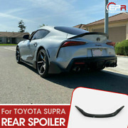 For Toyota 19+ Supra A90 T Type Carbon Rear Trunk Spoiler Wing Exterior Kit