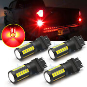 4x Led Brake Stop Tail Light Bulb 3157 3057 Red For Chevy Silverado 1500 99-2013