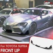 Double Side Carbon Front Bumper Lip For Toyota 19+ Supra A90 T Type