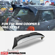 For F56 Mini Cooper S Dag Style Frp And Carbon Rear Spoiler Wing 2pcs Body Kits
