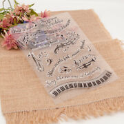 Musical Notes Instruments Phrases Transparent Clear Silicone Stamp Seal