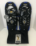 Atlas Back-country Snowshoes 1022 Blue 8x22 3.6 Lbs Easy-to-use Euc Snow Winter