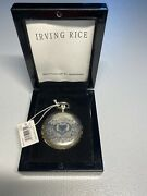 Antique Victorian Style Silver Locket Compact Pendant Necklace Irving Rice