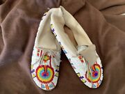 Sioux, Plains, Native American Indian, Vintage beaded Moccasins