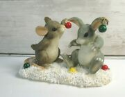 Charming Tails Decorating Binkey Mouse Rabbit Christmas Ornaments W/bx