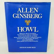 Howl By Allen Ginsberg With Original Draft Facsimile, Annotations - Stated First
