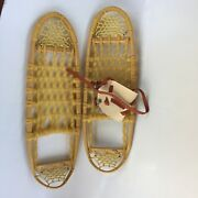 Vintage Catpaws Brant Lake Adirondacks Ny Made In Usa 8 X 26 Snow Shoes Signed