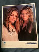 Mary Kate And Ashley Olsen Signed Autographed 8x10 Photo Full House Twins