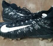 Damien Harris Autograph Signed Alabama Game Used Nike Cleats Inscribed W/ Jsa