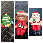 Fitz And Floyd Pottery Santa Candle Holder Candy Cookie Plate Christmas 6andrdquo H