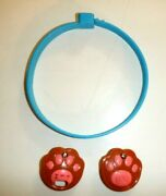 Little Live Pets Rollie My Kissing Puppy Replacement Blue Collar And 2 Paw Pads
