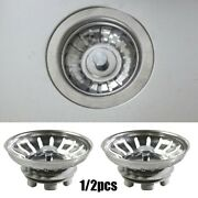 Stainless Steel Sink Strainers 2 Pcs Home Improvement Home Plumbing Durable New