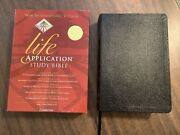 Niv 1984 Life Application Study Bible - Black Bonded Leather - Out Of Print 84