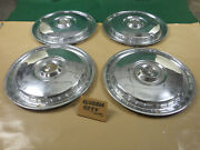 1955 56 Ford Full Size 15 Hubcap/wheel Cover Hub Caps Set Of 4