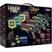 Laser Tag Set + Innovative Lcds And Sync 4 Infrared Guns And Vests
