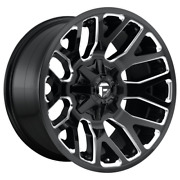 20 Inch Black Wheels Rims Fuel Warrior D623 20x10 Lifted Toyota Tacoma 4runner