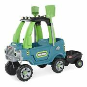 Little Tikes Go Green Cozy Truck W/ Trailer And Garden Tools For Kids   Recycle...