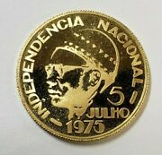 1976 Cape Verde Gold Proof 2500 Escudos - Low Mintage Only 3409 Coins Minted