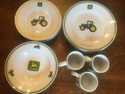 John Deere Dishes/ 4 Place Settings. By Gibson