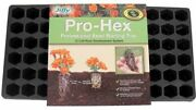 Jiffy Pro-hex Tray Professional Seed Starting Tray 72 Cell Black