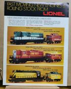 Vtg Hobby Train Catalog Sales Ad 1970s Lionel Fast Moving New Engines -ltm22