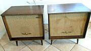 Mid Century Modern Stereo Console Wood Leg Jvc Perfect Stereo Turntable Se Video