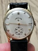 Vintage Lord Elgin 14k Yellow Gold 556 21 Jewels Menand039s Watch