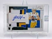 2020 Panini One Justin Herbert On Card Rookie Auto Dual 4 Color Patch 82/99 Rpa