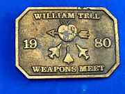 Vintage William Tell 1980 Aircraft Weapons Meet Belt Buckle By Speccast