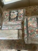 New Vintage 1991 Avon Floral Gardens Hanging Garment Bags Duffel Tote Lot New