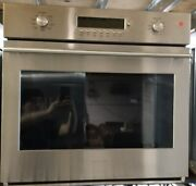 Monogram 30 Stainless Steel Single Electric Convection Wall Oven Zet1shss